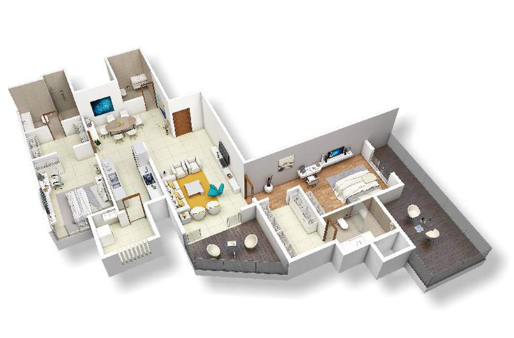 2 bed C view - 195 SQM